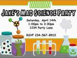 Free Printable Science Birthday Party Invitations Science Birthday Party Invitations Oxsvitation Com