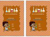 Free Printable Science Birthday Party Invitations Science Free Printable Birthday Party Invitations