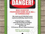 Free Printable Science Birthday Party Invitations Science Party Invitations Mad Science Birthday Party