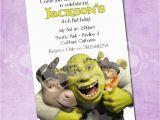 Free Printable Shrek Birthday Invitations Free Printable 4 Years Old Birthday Invitations Template