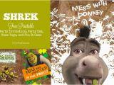 Free Printable Shrek Birthday Invitations Free Printable Shrek Birthday Party Invitation Game