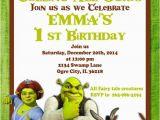 Free Printable Shrek Birthday Invitations Printable Invitation Shrek Invitation Doney Invite by