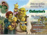 Free Printable Shrek Birthday Invitations Shrek Birthday Invitations and Party Supplies