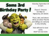 Free Printable Shrek Birthday Invitations Shrek Invitations Personalized Party Invites