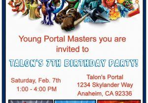 Free Printable Skylanders Birthday Invitations 34 Best Images About Skylander On Pinterest