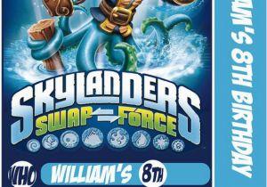 Free Printable Skylanders Birthday Invitations Skylander Swap Force Card Party Invitation