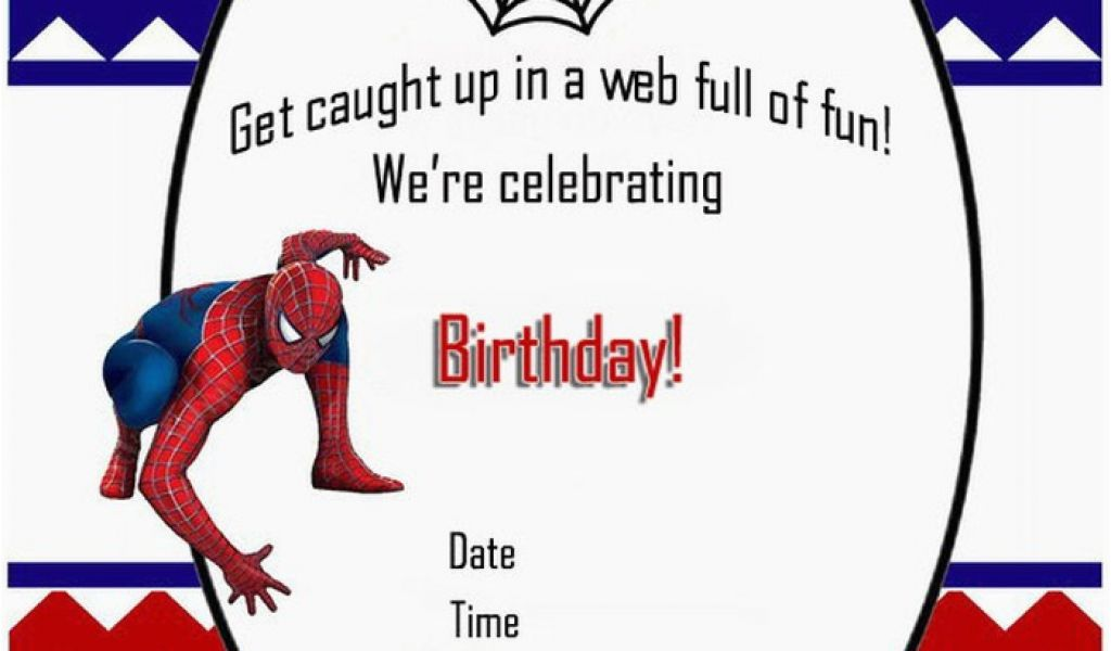 Download By SizeHandphone Tablet Desktop Original Size Back To Free Printable Spiderman Birthday Party Invitations