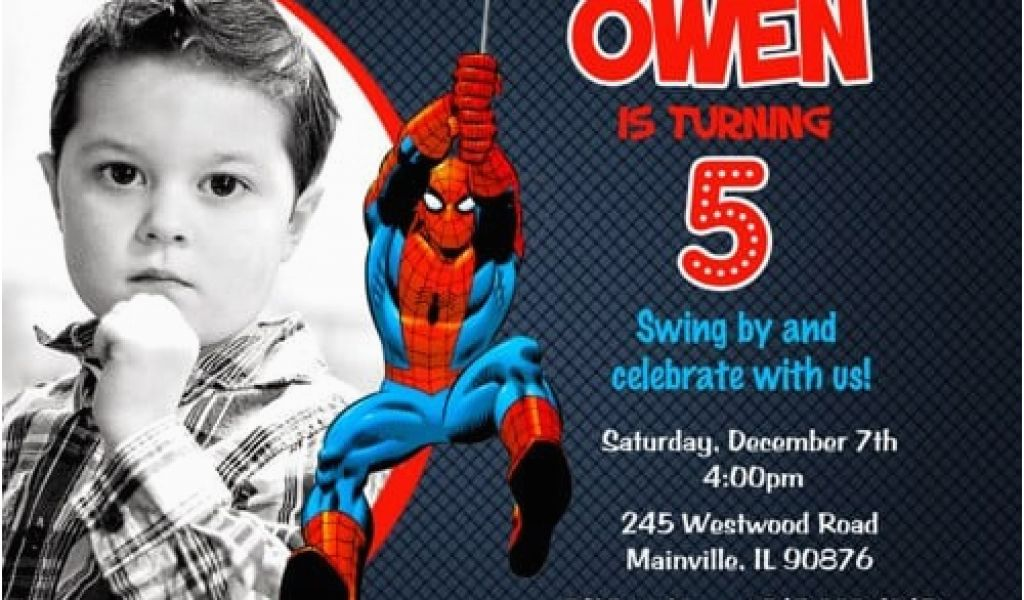 picture relating to Printable Spiderman Invitations identified as No cost Printable Spiderman Birthday Bash Invites