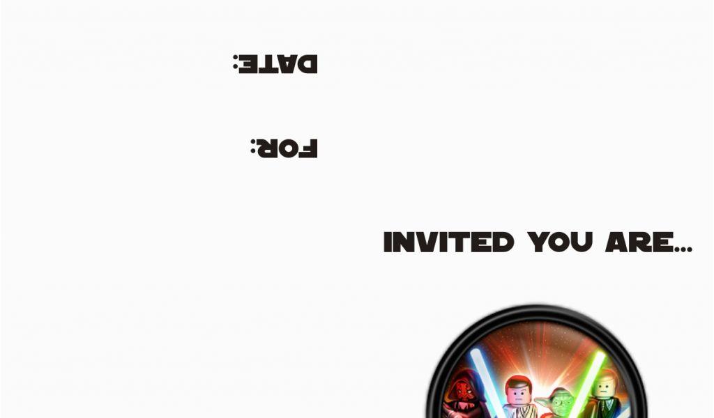 image regarding Star Wars Printable Birthday Cards known as Cost-free Printable Star Wars Birthday Invites Lego Star Wars