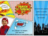 Free Printable Superhero Birthday Cards 30 Superhero Birthday Invitation Templates Psd Ai