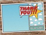 Free Printable Superhero Birthday Cards Best 25 Superhero Thank You Cards Ideas On Pinterest