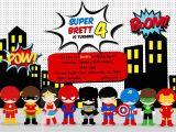 Free Printable Superhero Birthday Cards Free Superhero Birthday Party Invitation Templates