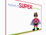 Free Printable Superhero Birthday Cards Superhero Birthday Card Printable Happy Holidays