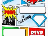 Free Printable Superhero Birthday Cards Superhero Comic Book Party Invitation with Free Printable