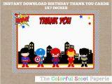 Free Printable Superhero Birthday Cards Superhero Thank You Card Superheroes Thank You Cards Marvel