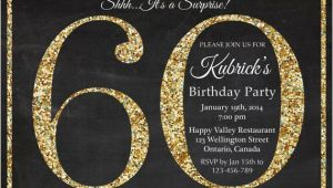 Free Printable Surprise 60th Birthday Invitations 60th Birthday Invitation Gold Glitter Birthday Party