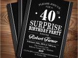 Free Printable Surprise Birthday Invitations Template 24 40th Birthday Invitation Templates Psd Ai Free