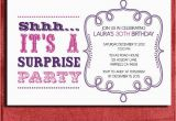 Free Printable Surprise Birthday Invitations Template Items Similar to Vintage Style Surprise Birthday