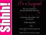 Free Printable Surprise Birthday Invitations Template Surprise Party Invitation Wording Template Best Template