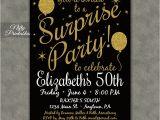 Free Printable Surprise Birthday Invitations Template Surprise Party Invitations Printable Black Gold Surprise