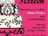 Free Printable Sweet 16 Birthday Party Invitations Printable Sweet Sixteen Party Invitation