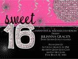 Free Printable Sweet 16 Birthday Party Invitations Sweet 16 Birthday Invitation Hot Pink Custom and Printable