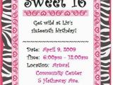 Free Printable Sweet 16 Birthday Party Invitations Sweet 16 Invitation Free orderecigsjuice Info