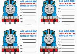 Free Printable Thomas the Train Birthday Invitations Thomas and Friends Birthday Invitations Free Printable