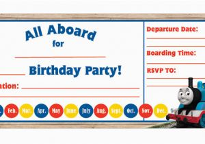 Free Printable Thomas the Train Birthday Invitations Thomas Birthday Invitations Kids Birthday Parties Pbs