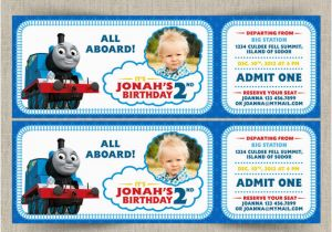Free Printable Thomas the Train Birthday Invitations Thomas the Train Customizable Printable Party Invitation