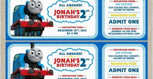 Free Printable Thomas the Train Birthday Invitations Thomas the Train Invitations