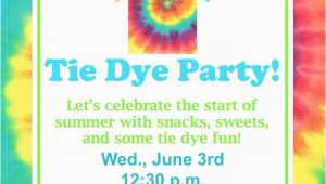 Free Printable Tie Dye Birthday Invitations Tie Dye Party Fundiy Show Off Diy Decorating and Home