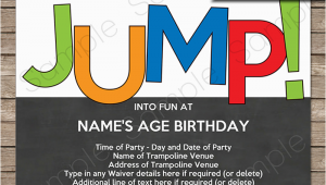 Free Printable Trampoline Birthday Party Invitations Trampoline Party Invitations Birthday Party Template