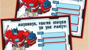 Free Printable Transformer Birthday Invitations Free Printable G1 Transformers Birthday Invitation