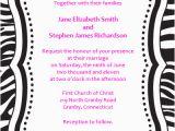 Free Printable Zebra Print Birthday Invitations Zebra Print Free Invitation Template Wedding Invitation
