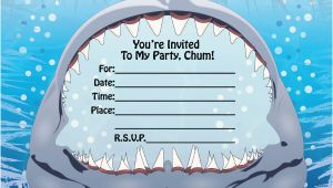 Free Shark Birthday Invitation Template Fill In Birthday Invitations Ideas Bagvania Free