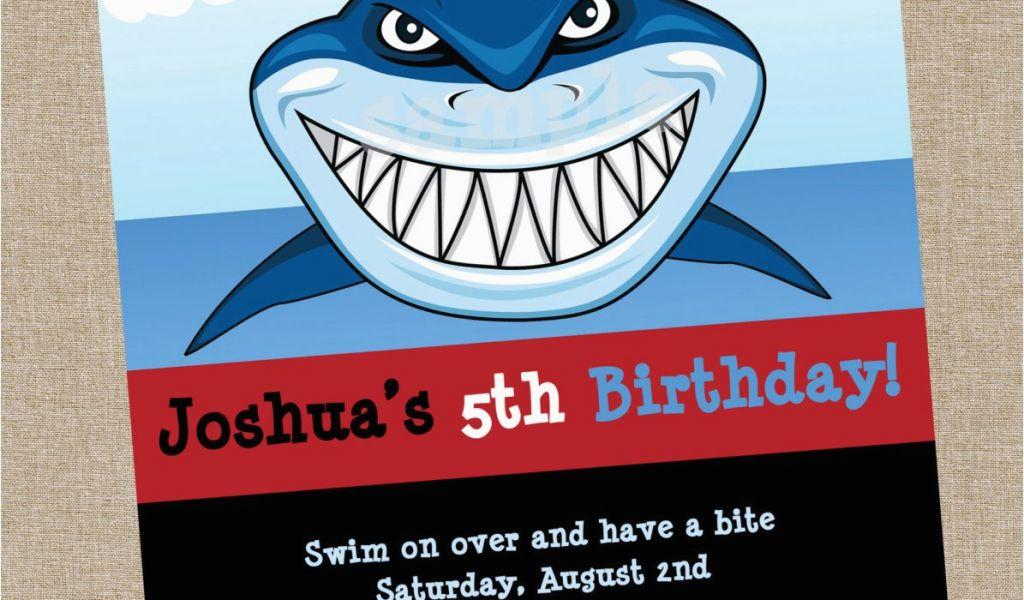 Download By SizeHandphone Tablet Desktop Original Size Back To Free Shark Birthday Invitation Template