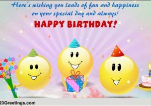 Free Singing Birthday Cards Online Funny Smileys Wishes Ecards