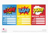 Free Superhero Birthday Invitations Free Superhero Party Printables Catch My Party