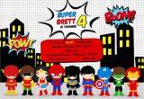 Free Superhero Birthday Invitations Greygrey Designs My Parties Brett 39 S Superhero 4th
