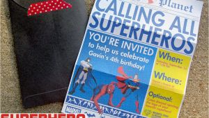 Free Superhero Birthday Invitations Superhero Newspaper Birthday Invitation the Scrap Shoppe