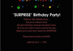Free Surprise Birthday Party Invitations 50th Birthday Surprise Party Invitations Free Invitation