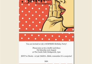 Free Surprise Birthday Party Invitations Free Printable 50th Surprise Party Invitations