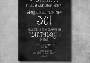 Free Surprise Birthday Party Invitations Free Printable Surprise Party Invitation Template