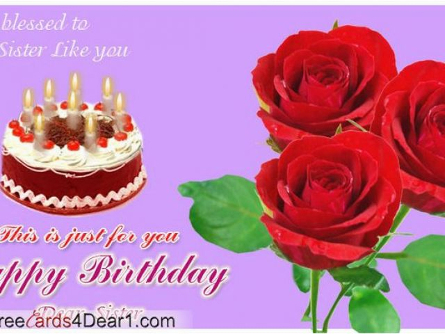 Free Virtual Birthday Cards Funny Animated Happy Birthday Sister