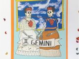 Frida Kahlo Birthday Card Birthday Card Frida Kahlo Limited Edition Gemini Zodiac