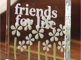 Friends Birthday Gifts for Her Spaceform Friends for Life Glass token Christmas Gift