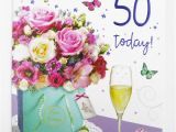 Friendship Birthday Cards for Her Womens Happy 50th Birthday Greeting Card Envelope Seal