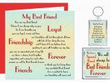 Friendship Verses for Birthday Cards Best Friend Verse Gift Set Card Keyring Magnet