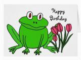 Frog Birthday Cards Free Ah Funny Frog Birthday Card Zazzle